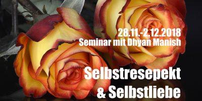 Selbstresepkt und Selbstliebe Seminar mit Dhyan Manish 28 November 2018